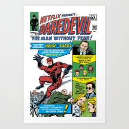 Netflix Presents Daredevil Art Print