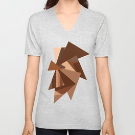 Chocolate Caramels Triangles Unisex V-Neck