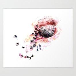 Flys in the Eye Art Print