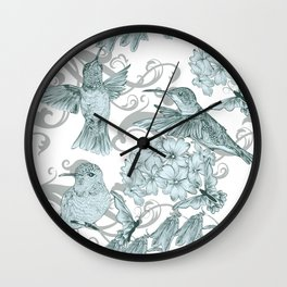 VINTAGE BIRDS Wall Clock