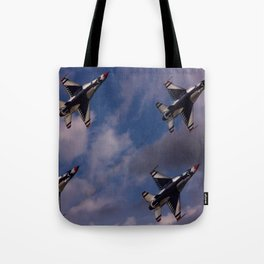 USAF Thunderbirds In Diamond Formation Tote Bag