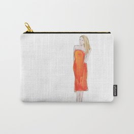 Orange Lip Carry-All Pouch