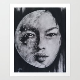 In All Her Phases Art Print