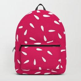 White Raindrops on Pink Fuchsia Background Backpack
