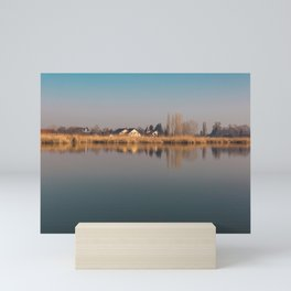 Lake view Mini Art Print