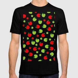 Patrón de manzanas verdes y rojas T-shirt