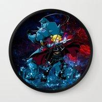 fullmetal Wall Clocks featuring Two Alchemist by BradixArt