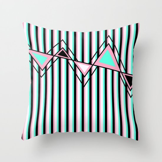 Stripes, Triangles and ZigZags Throw Pillow