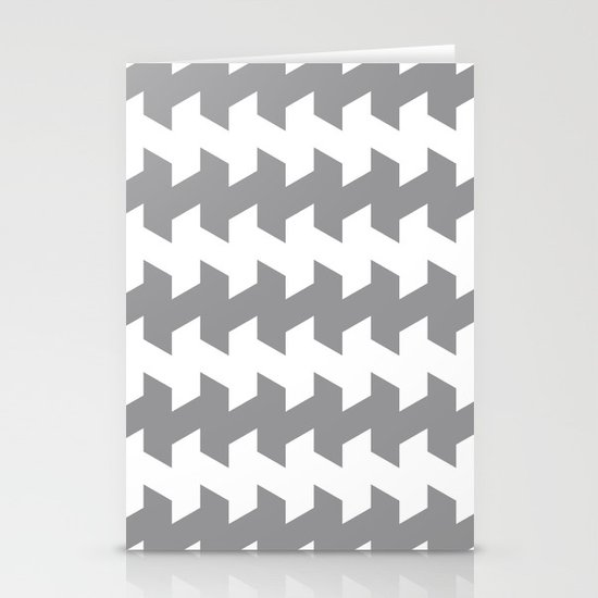 jaggered and staggered in alloy Stationery Cards