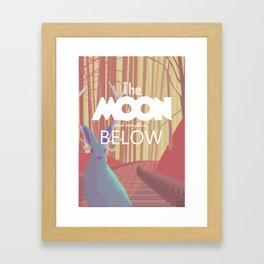 The Moon and everything Below Framed Art Print