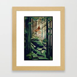 MY THERAPY MOUNTAIN BIKE POSTER Framed Art Print