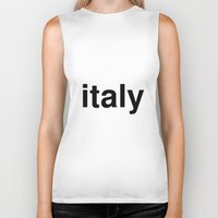 italy Biker Tanks featuring italy by linguistic94