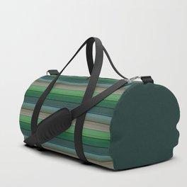 Striped green-gray pattern Duffle Bag