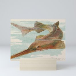 Sawfish, from the Fish from American Waters series (N8) for Allen & Ginter Cigarettes Brands Mini Art Print