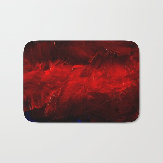Red And Black Abstract Gothic Glam Chic Bath Mat