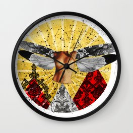 Wonder Wood Dream Mountains - The Demon Cleaner Wall Clock