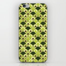 avocados in art deco iPhone Skin