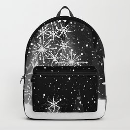 Elegant Black and White Christmas Trees Holiday Pattern Backpack
