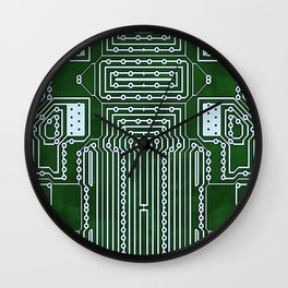 Computer Geek Circuit Board Pattern Wall Clock