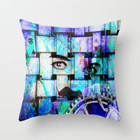 chaplin Throw Pillows featuring Chaplin  by Joe Ganech