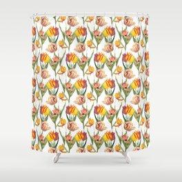 Tulips 1   Vintage Floral Pattern   Flower Patterns   Shower Curtain