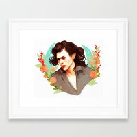 harry styles Framed Art Prints featuring Harry Styles by chazstity