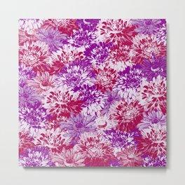 marguerites and chrysanthemums in purple mood Metal Print