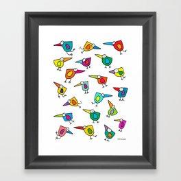 A Flock of Colourful Birds Framed Art Print