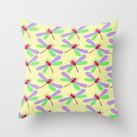 bugs Throw Pillows featuring Bugs by Ophelia Mercedes