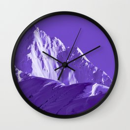Alaskan Mts. I, Bathed in Purple Wall Clock
