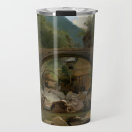 Théodore Rousseau Mountain Stream in the Auvergne Travel Mug