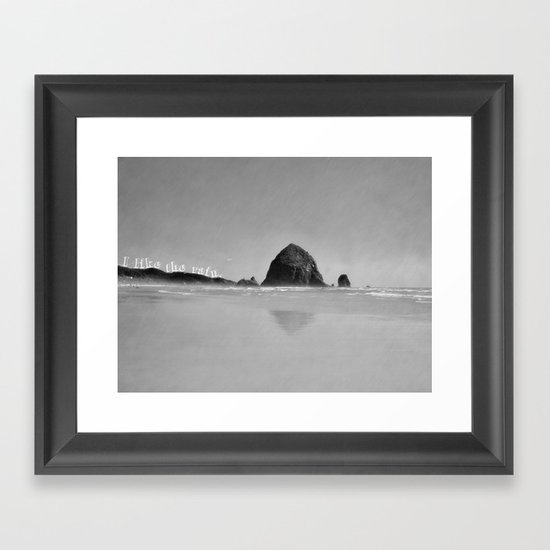 I like the rain. Framed Art Print
