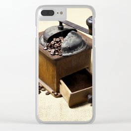 coffee grinder 6 Clear iPhone Case