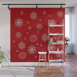 Silver snowflakes Wall Mural