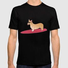 Surfing corgi T-shirt
