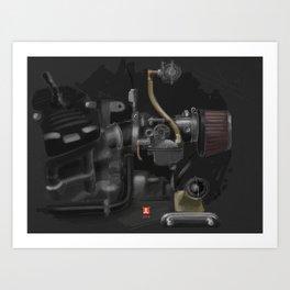 Honda CX500 Carb Art Print