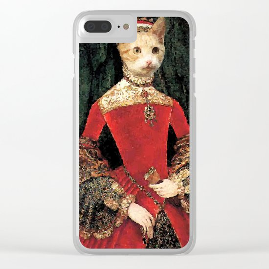 Royalty cat Clear iPhone Case