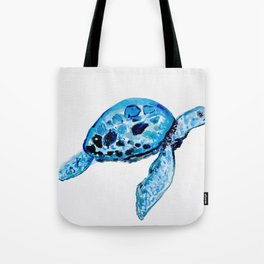Sea Turtle, Watercolor Print, Turtle Art, Turtle Illustration, Sea,Turtle, Nursery Tote Bag
