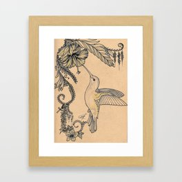 Hum and hibiscus 4 Framed Art Print