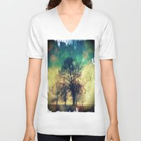 twilight V-neck T-shirts featuring Twilight by Brent Griffith Art