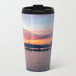 Sunset Lake Annecy Travel Mug