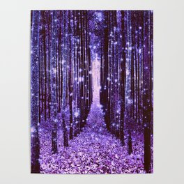 Magical Forest Purple Poster