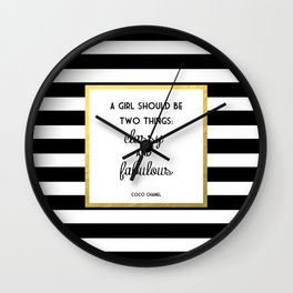 Coco Gold Classy & Fabulous Gold Print Wall Clock