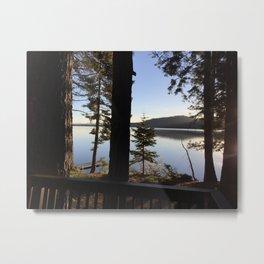 Lake Tahoe cabin view Metal Print