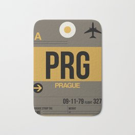 PRG Prague Luggage Tag 1 Bath Mat