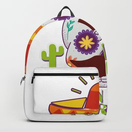 Skull Turn Down Por Que For Cinco De Mayo Party Backpack