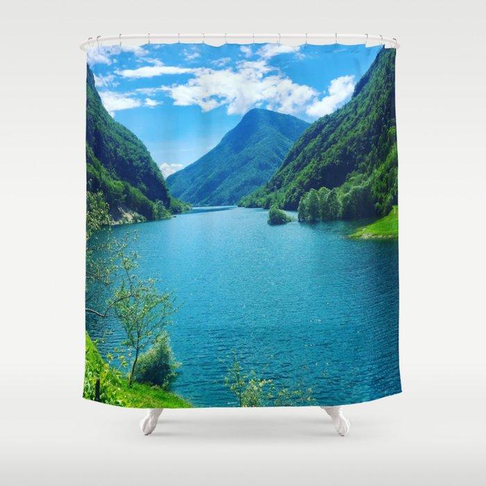 Dolomite Glacial Lake Shower Curtain