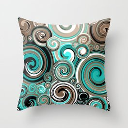 Water Whirlwind Abstract 2 Throw Pillow