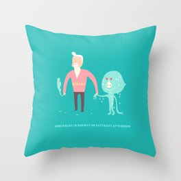 Somewhere in Norway on Saturday afternoon Throw Pillow