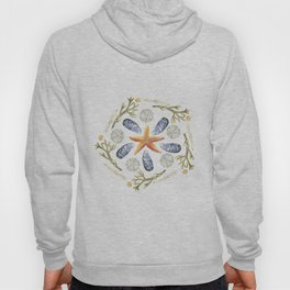 Tide Pool Beach Mandala 3 - Watercolor Hoody